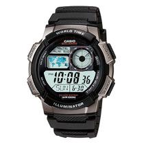 Relogio Casio Ae-1000w-1mapa Azul H.mundi-crono-timer-5alar