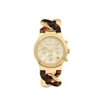 Relógio Luxo Michael Kors Mk4222 Orig Chron Anal Tortoise!!!