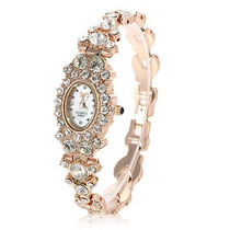 Relógio Feminino Bracelete C/ Pedras Cristais Frete Grátis