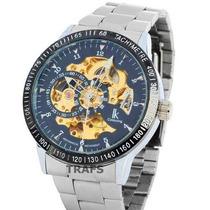Relógio Automático Masculino - Luxo - Lk Colouring Skeleton