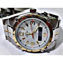 Relógio Condor Bicolor Inox Masculino Kc18041b 100 M Cn49