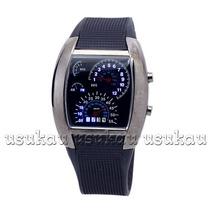 Relógio Oem Design Car Meter Fashion Pulseira Emborrachada