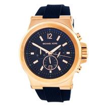 Relógio Michael Kors Mk8295 Azul E Rose Lindo Pronta Entrega