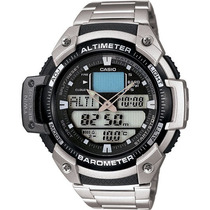 Casio Sgw-400hd Sgw-400 Aço Altímetro Barômetro Termômetro