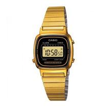 Relogio Casio La-670wga Gold Cronometro Alarme Timer Wr Gold
