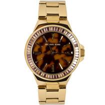 Relógio Luxo Michael Kors Mk5723 Orig Gold Tortoise!!!