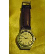 Relógio Swatch - Pulseira De Couro Marrom