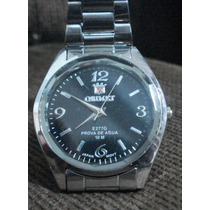 Relógio Orimet Scuba Original Mostrador Preto Pulseira Aço