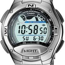 Relógio Casio W-753 D Gráfico Maré Fases Idade Lua Wr 100m