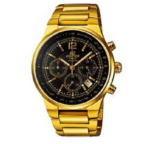 Relogio Casio Efr 508g Dourado Crono Data-lindo E Elegante