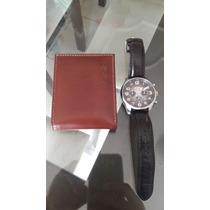 Relógio Fossil Masc Modelo Fs4514 + Carteira Baggagio Gratis