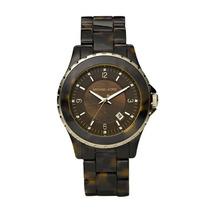 Relógio Luxo Michael Kors Mk5298 Chron Anal & Tortoise