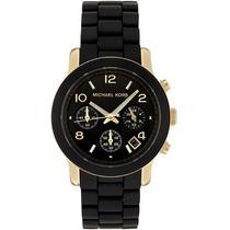 Relógio De Luxo Michael Kors Mk5191 Chron Anal Silicon Black