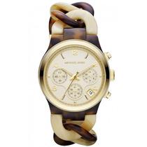 Relógio Luxo Michael Kors Mk4270 Orig Chron Anal Tortoise!!!