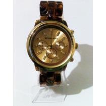 Relógio Feminino Dourado& Croco! ***modelo Novo