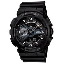 Relógio Casio G-shock Ga 110 1b Wr200 H.mundial 5 Alarmes Pp