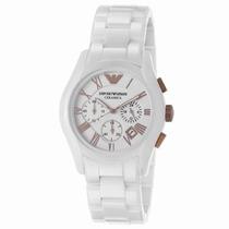 Relógio Emporio Armani Ar1416 Cerâmica Branco/rose P.entrega