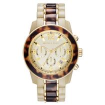 Relógio Luxo Michael Kors Mk5764 Orig Chron & Anal Tortoise!