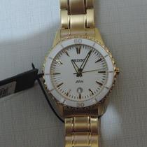 Relógio Orient Feminino Fgss1045 Dourado Cerâmica Luxo Lindo