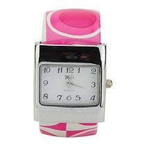 Relógio De Pulso Feminino Pulseira De Couro Clássico.