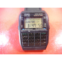 Raro Relogio Casio Calculadora Data Bank World Time Dbc-62