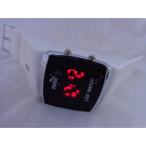 Lindo Relógio Led Watch Branco Masculino No Leilão De 1,00