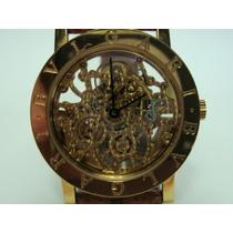 Relógio Bvlgari Esqueleto De Ouro 18k Jr Joalheiro.