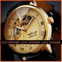 Relógio Semi Automático Série Ouro Winner *original*