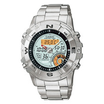Relogio Casio Amw 704 Caça Crono Termômetro Wr 100m Lua Fase
