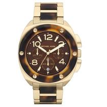 Relógio Michael Kors Mk5593 Tribeca Gold Tartaruga Original