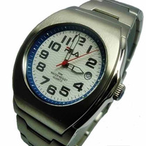 Relógio Masculino À Quartz Inox Fila Watches Triton Prata