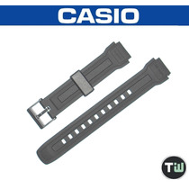 Pulseira P/ Casio Aqf-100 Aqf-102 Borracha Similar Preta