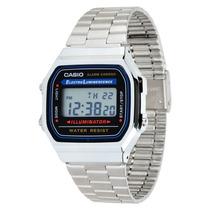 Relógio Casio A168 Wa-1 Cronômetro Alarme Dual Time Wr Prata