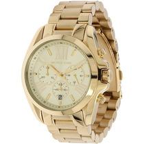 Relógio Michael Kors Mk5605 Dourado Original Garantia Leilão