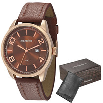 Relógio Mondaine Masculino Urbano 76323gpmbrh1k Com Carteira