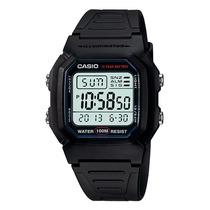 Relógio Casio W-800 H Wr-100 M Hora Dual Alarme W800h N.f.