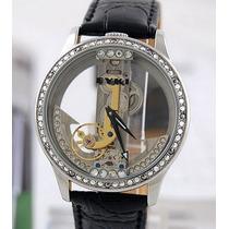 Relógio De Luxo Automático - Eyki Skeleton - Frete Grátis