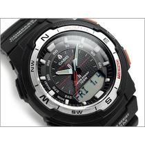 Relógio Casio Sgw-500h Bussola Original Novo Sgw-500 Prata