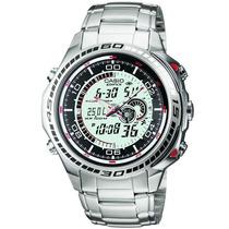 Relógio Casio Edifice Efa-121 Termômetro 50 Cidades Novo Br