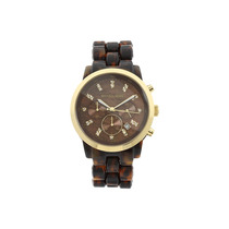 Relógio Luxo Michael Kors Mk5216 Orig Chron Anal Tortoise!!!
