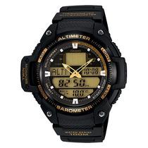 Relogio Casio Sgw 400h-ouro Termometro Barômetro Altimetro
