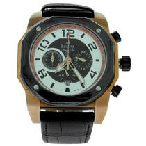 Relógio De Luxo Bulova Marinestar 98b138 Chronograph Analóg