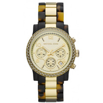 Relógio Luxo Michael Kors Mk5581 Orig Chron Anal Tortoise!!