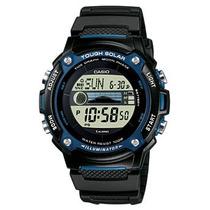 Relógio Casio Solar W-s210 Resina Gráfico Marés Dados Lunar