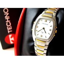 Relógio Technos St. Moritz - 9t22.ag - W.r. - Aço Original!