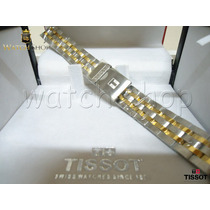 Pulseira De Aço Tissot Prs200 T067. Dourada - Original