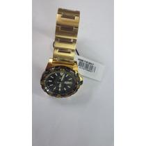 Relógio Masculino Seiko 4r36bk P1kx Automático Dourado 10atm