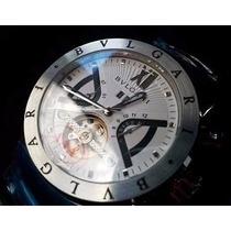 Relógio Masculino Automático Prata Com Fundo Branco