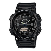 Relógio Casio Aq-s810 Solar Preto 5 Alarmes 2 Timers