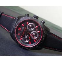 Relógio Eta Valjoux Modelo Tudor Fastrider Black Shield 42mm